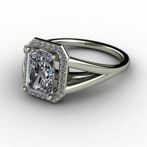 halo design radiant ring setting