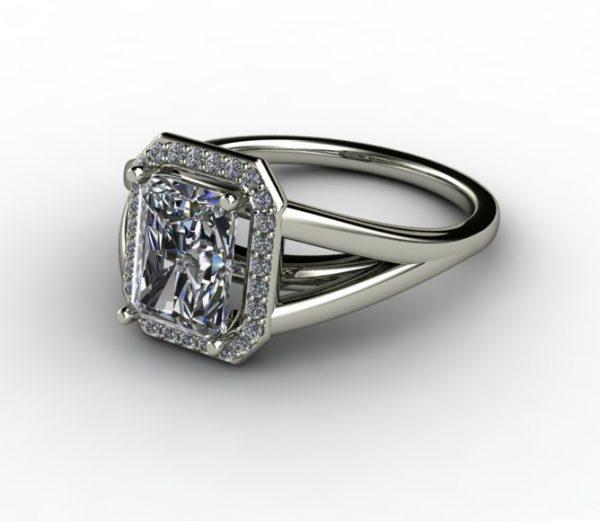 halo design radiant ring setting